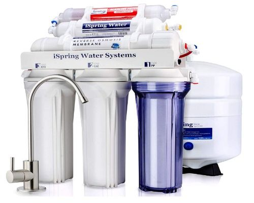 ISpring RCC7AK 6-Stage Best under sink reverse osmosis water filter, Alkaline Remineralization
