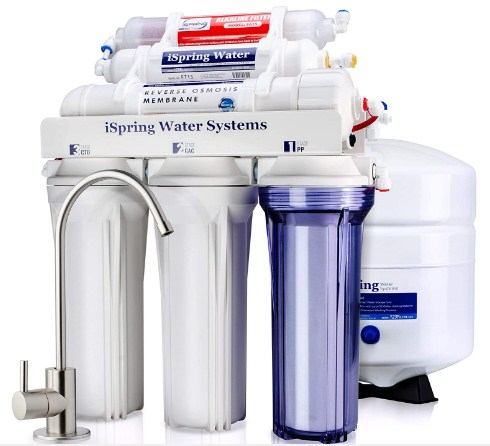 iSpring RCC7AK 6-Stage Superb Taste High Capacity Under Sink Reverse Osmosis Drinking Water Filter System